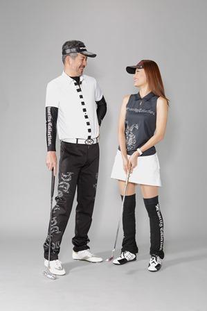 ポイント①ゴルフウェアを合わせてデートゴルフを楽しむ!